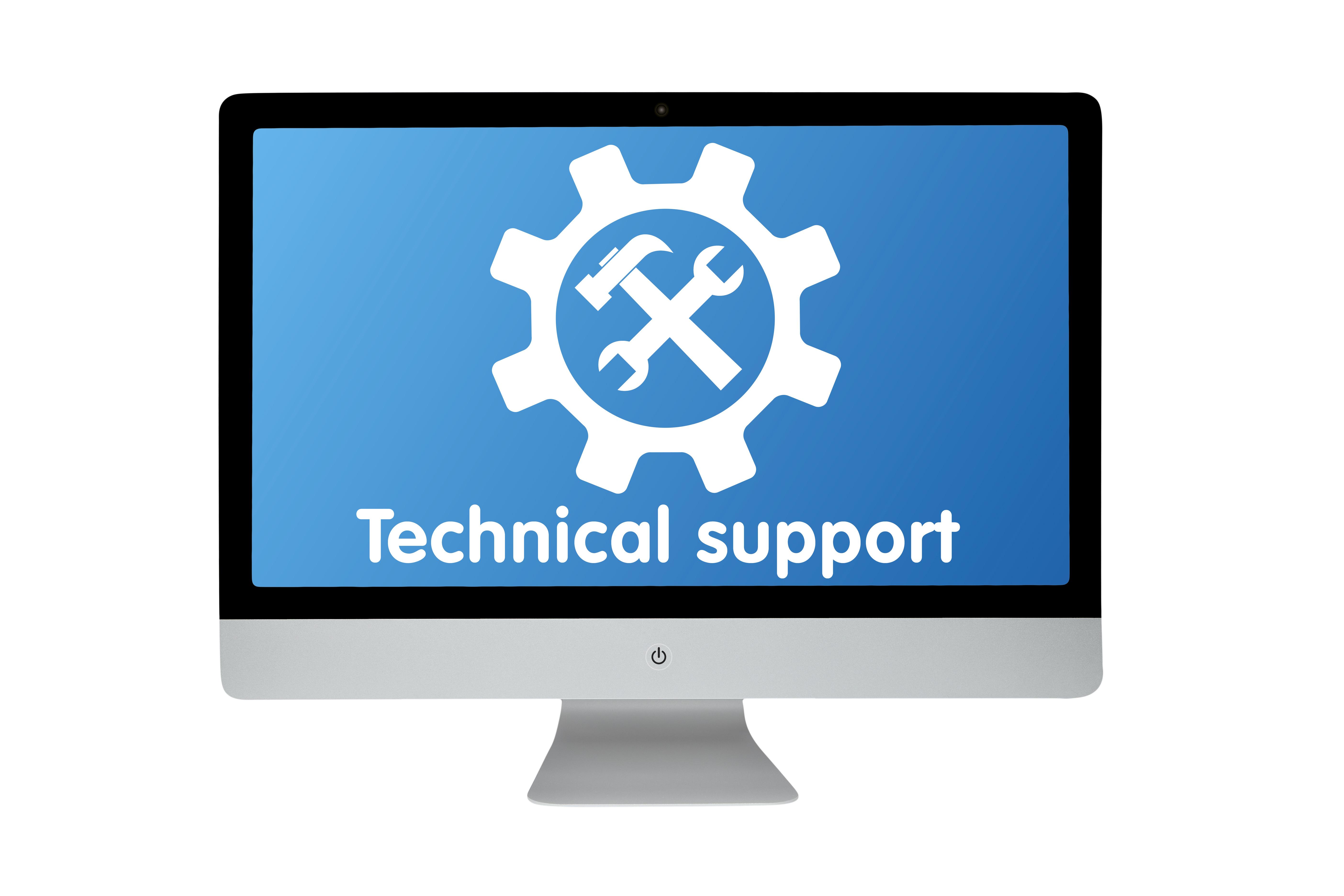 Technical support. Modern computer
